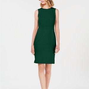 Gorgeous hunter green sheath dress